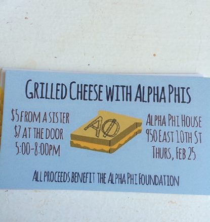 Delta Alpha (East Carolina) Grilled Cheese with Alpha Phi